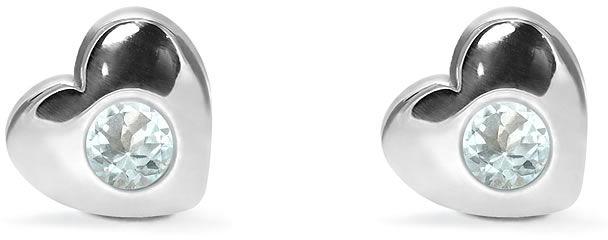 Kuźnia Srebra - Kolczyki srebrne sztyft, 8mm, Niebieski Topaz, 2g, model