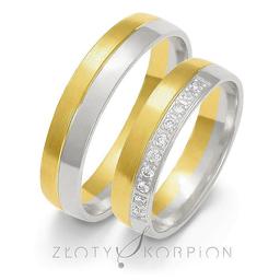 Obrączki ślubne Złoty Skorpion  wzór Au-OE120