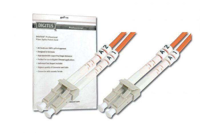 Digitus Patch cord światłowodowy FO MM 50/125 OM2 LC-LC 1m