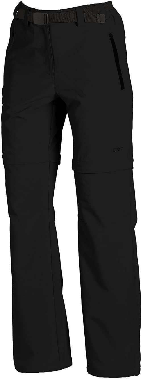 CMP Damskie spodnie z odpinanymi nogawkami czarny czarny 40