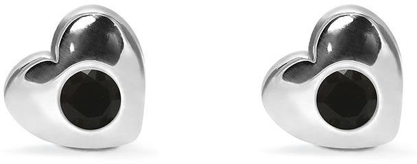 Kuźnia Srebra - Kolczyki srebrne sztyft, 8mm, Czarny Onyks, 2g, model