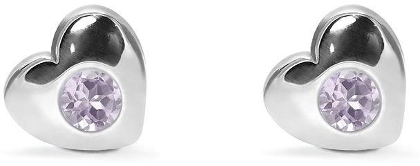 Kuźnia Srebra - Kolczyki srebrne sztyft, 8mm, Ametyst, 2g, model
