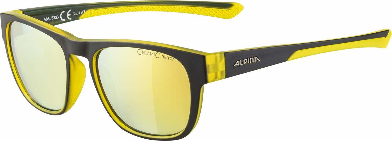 ALPINA Unisex - Dorośli, LINO II Okulary przeciwsłoneczne, black-neon-yellow matt/neon yellow, One Size