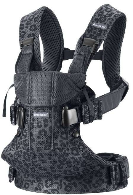 Babybjorn one air 3d mesh - nosidełko, antracyt/leopard