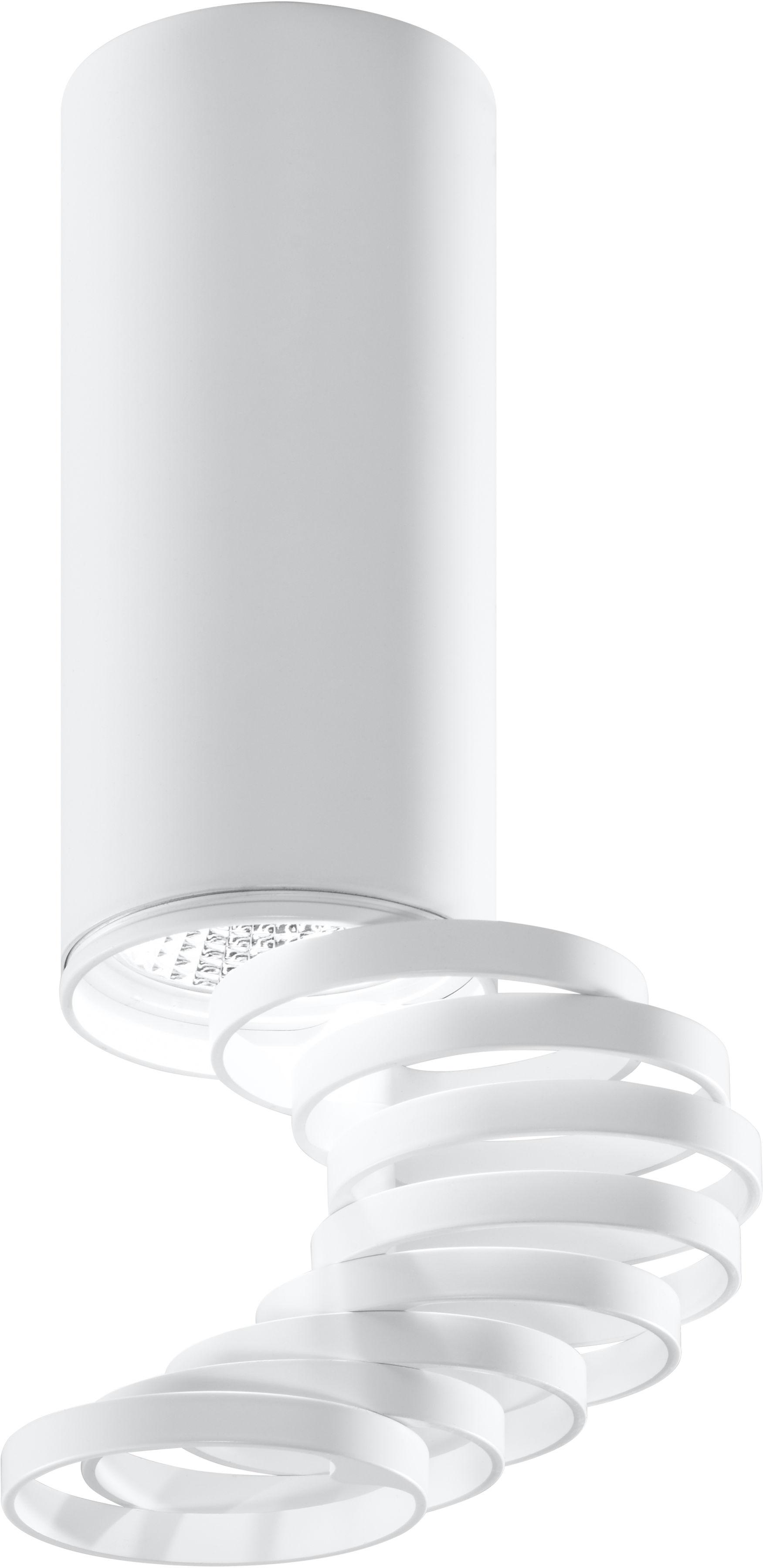 Candellux TUBA 2282725 oprawa stropowa natynkowa biała regulowane pierścienie 1X50W GU10 20 cm