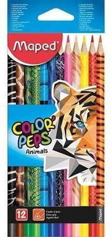 Kredki Colorpeps Animals 12 kolorów MAPED