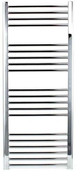 Grzejnik łazienkowy York - wykończenie proste, 600x1200, Chromowany