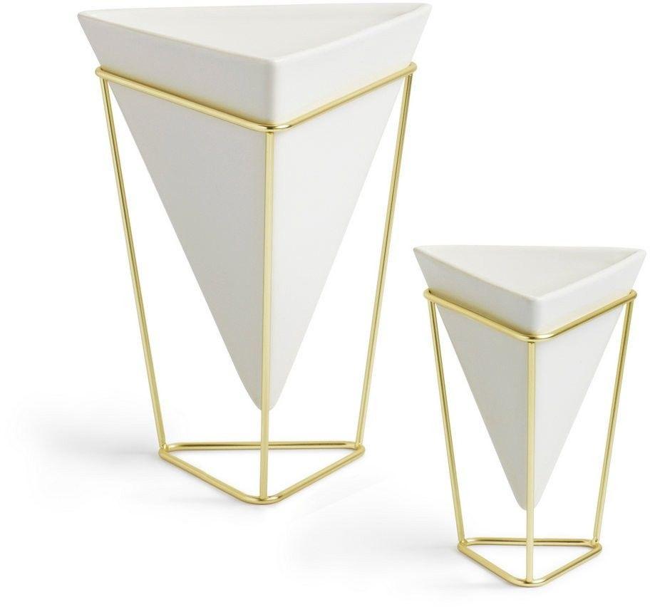 Umbra - wazon/pojemnik dekoracyjny trigg - 2 szt - biały
