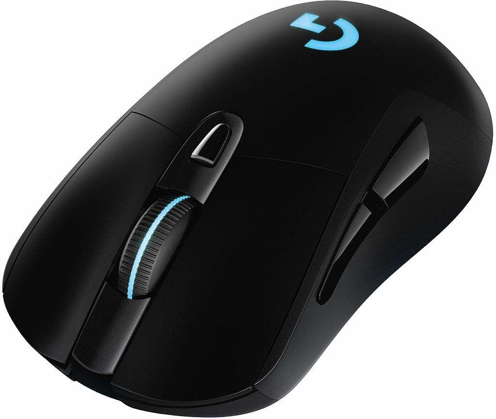 Logitech G 703 LIGHTSPEED bezprzewodowa mysz gamingowa z czujnikiem DPI, 25K DPI, połączenie bezprzewodowe, LIGHTSYNC RGB, kompatybilna z POWERPLAY, niewielka waga 95 g, PC/Mac - czarna