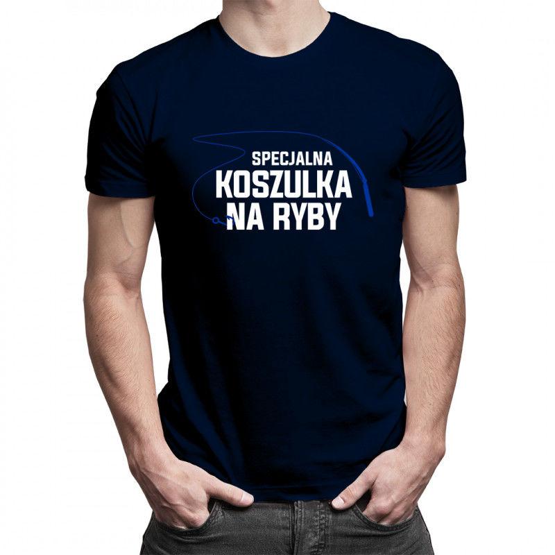 Specjalna koszulka na ryby - męska koszulka z nadrukiem