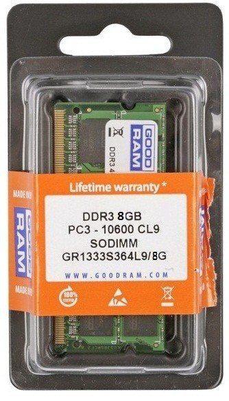 GOODRAM DDR3 SODIMM 8GB/1333 (1*8GB) CL9