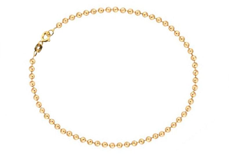 Złota bransoleta 585 kuleczkowa kuleczki 0,85g