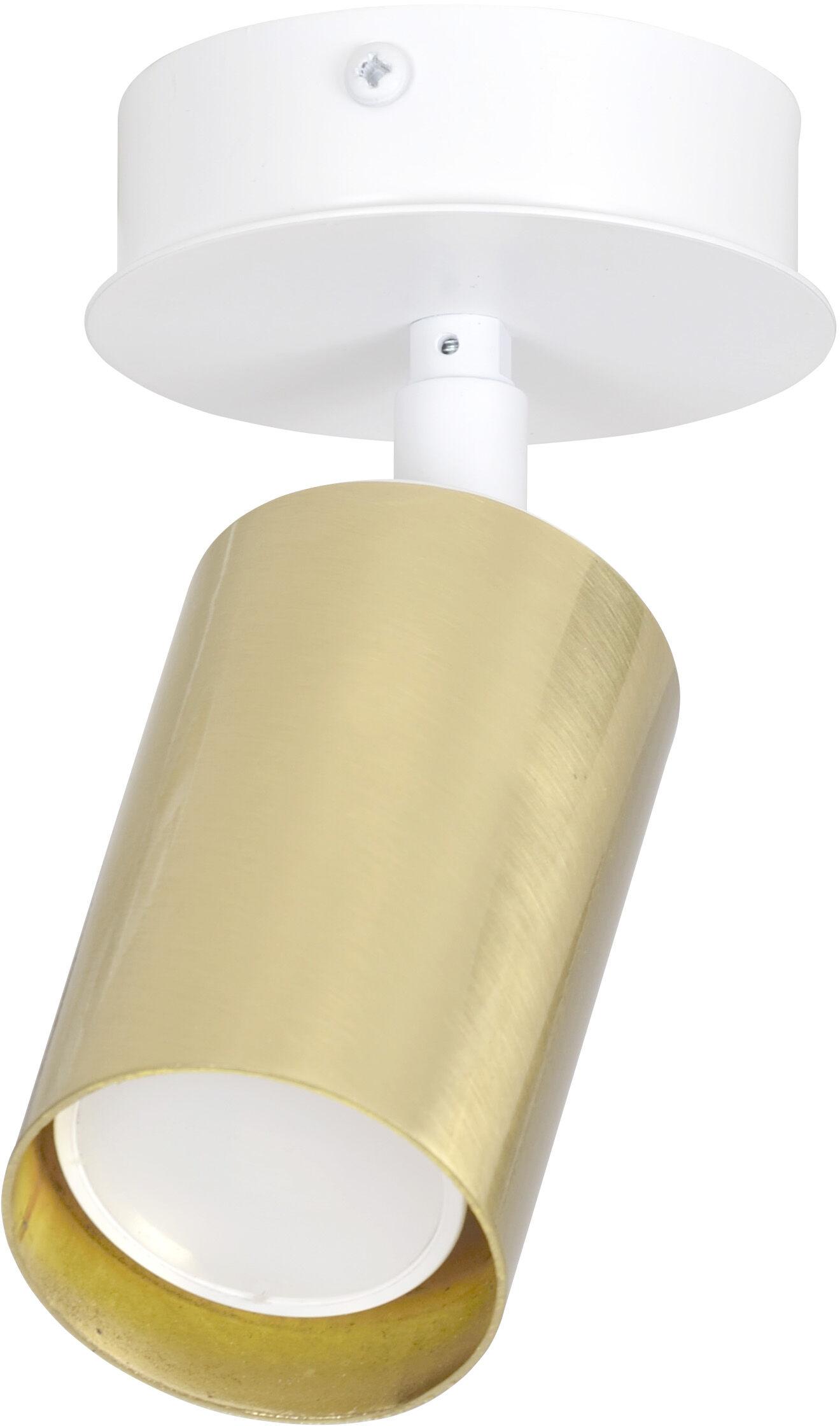 Emibig ZEN 1 WHITE 623/1 oprawa natynkowa spot sufitowy reflektor halogen LED regulowany biało-złoty 1x30W Gu10 8cm