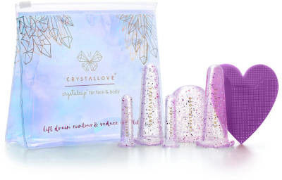 Crystallove Bańki silikonowe do masażu twarzy i ciała Crystal 5sztuk Crystallove