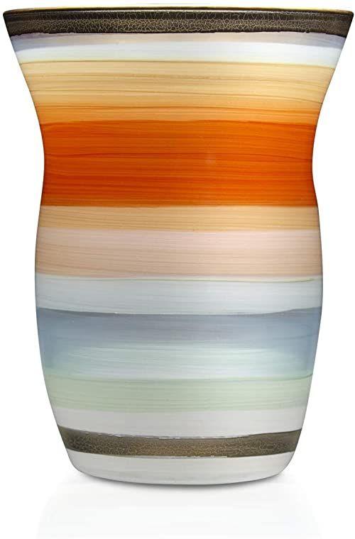 Angela Neue Wiener Werkstätte Monika Orange wazony z kolorowego szkła, 13 cm