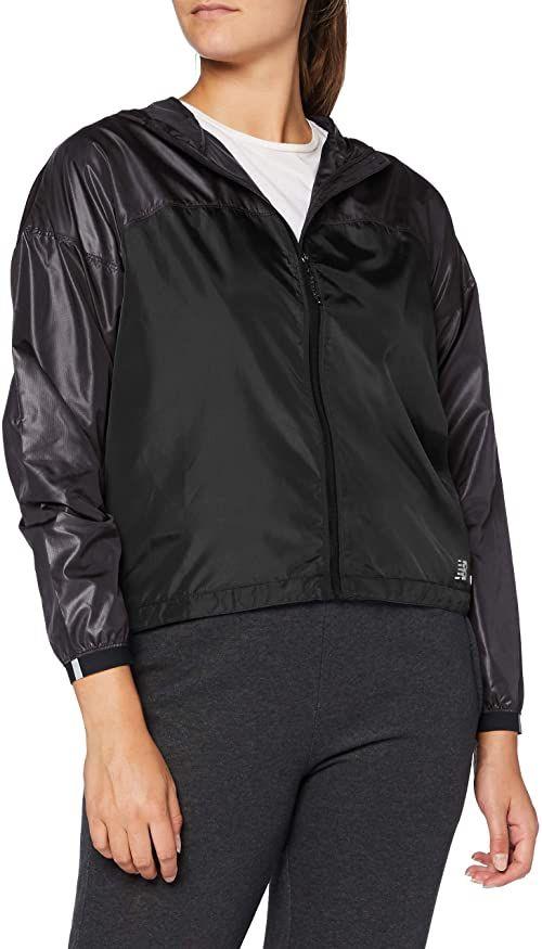 New Balance damska lekka kurtka pakowalna, czarna, mała