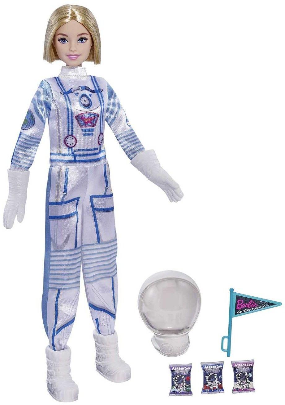 Barbie Kariera Lalka Deluxe Astronautka Kosmonautka Blond włosy GYJ99