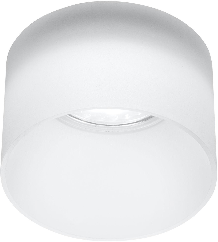 Candellux TUBA 2273679 oprawa stropowa natynkowa biała mrożona szklana 1X50W GU10 7,8 cm