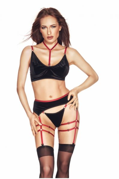 Riho 3pcs XXL/XXXL (biustonosz,string,pas/bra,string,garter belt)
