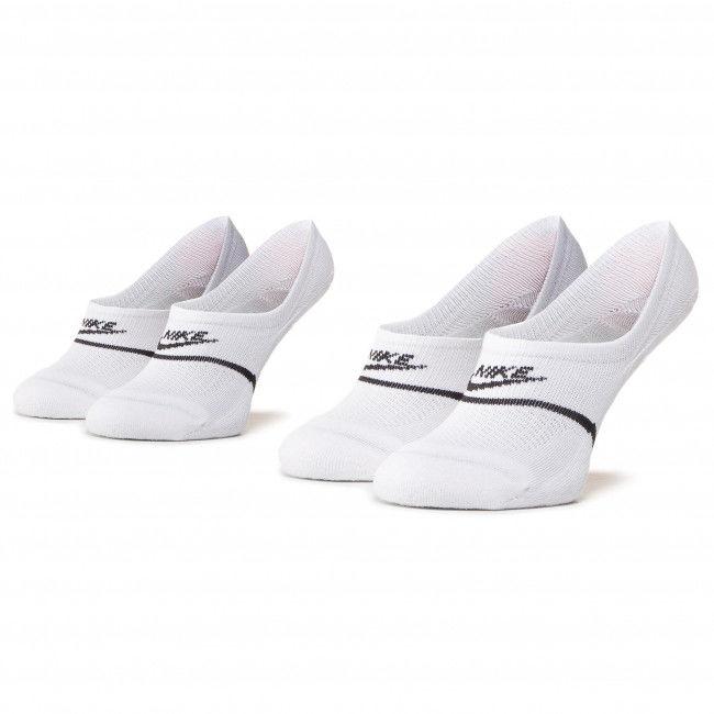 Zestaw 2 par stopek unisex NIKE - CU0692 100 Biały