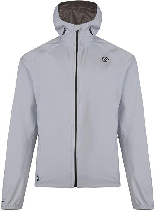 Dare2b męska aranżacja lekka wodoodporna odporna na przewracanie kurtka z kapturem z płaszczem, delikatna szara, średnia