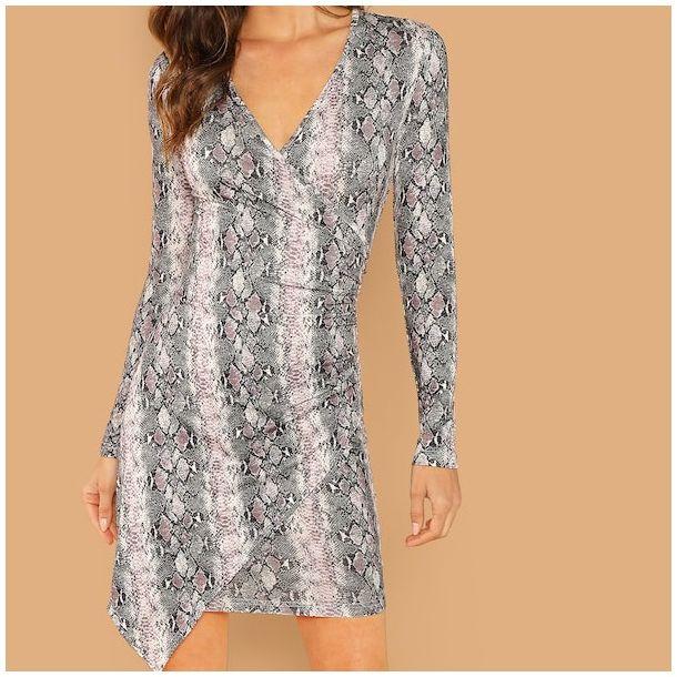 Sukienka imitacja skóry węża HANA Beauty Senses BS00653