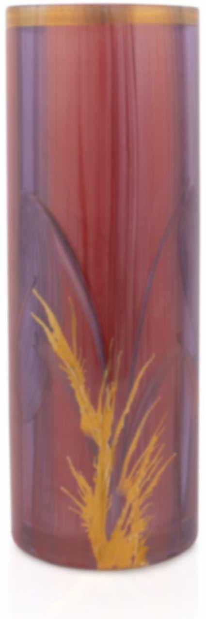 Angela nowy wiedeński stół warsztatowy wazon cylindryczny ekskluzywny wazon, szkło, czerwony, wys. = 30 cm, śr. = 11 cm