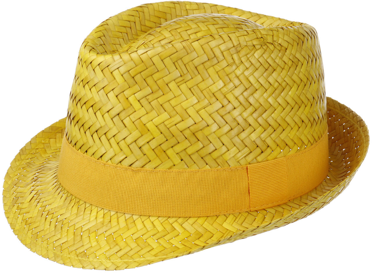Kapelusz Trilby Słomkowy Valencia, żółty, 55 cm