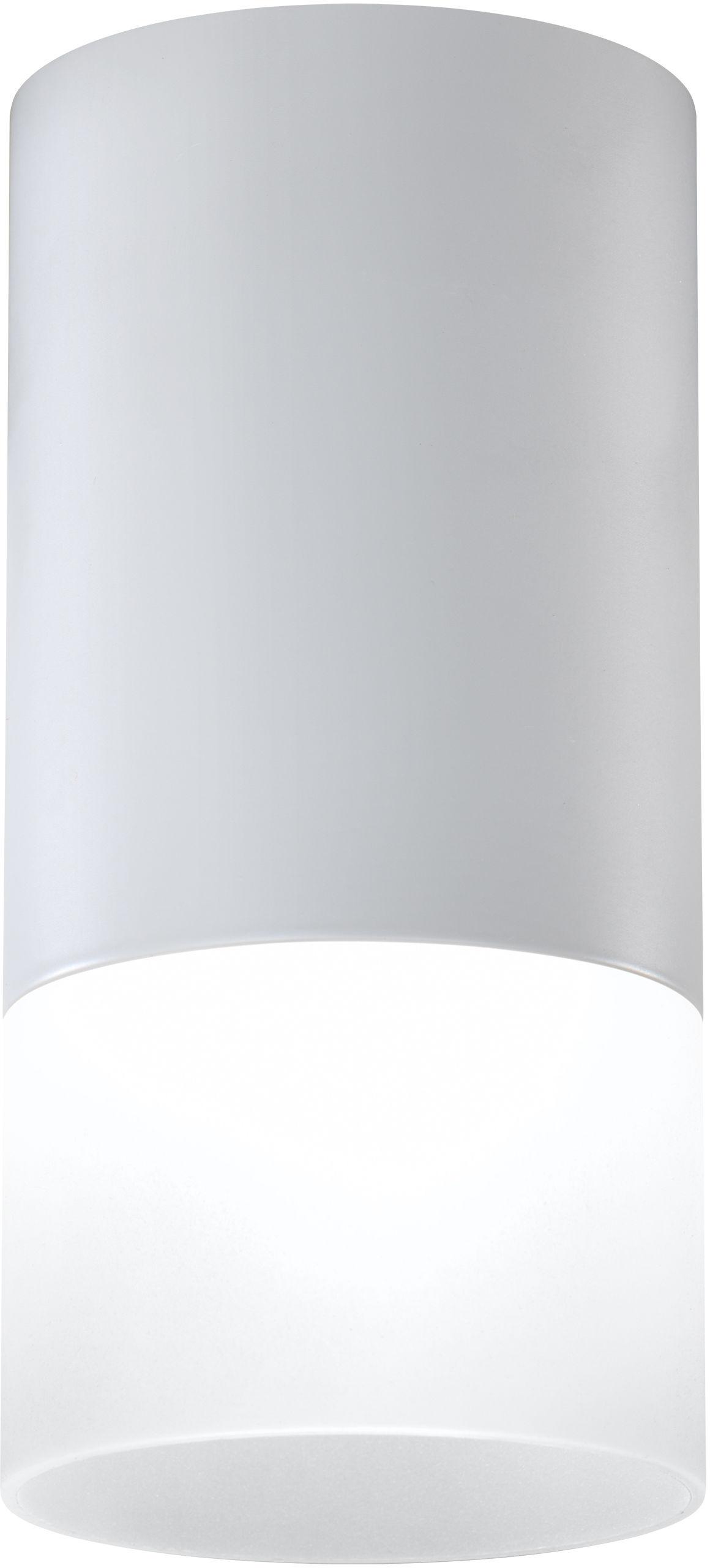 Candellux TUBA 2273686 oprawa stropowa natynkowa akrylowy klosz mrożony szary 1X50W GU10 6,4 cm