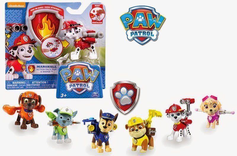 Psi Patrol Figurki akcji z odznaką mix