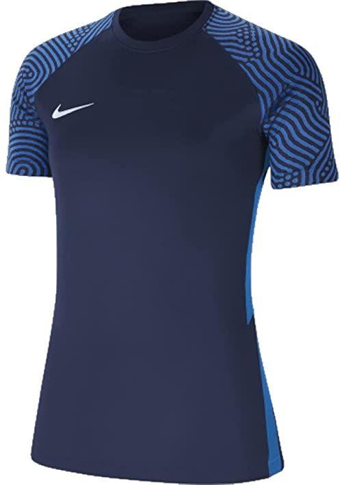 Nike Damska koszulka Strike Ii Jersey Ss Women T-Shirt niebieski granatowy/biały (Midnight Navy/Photo Blue/White) L
