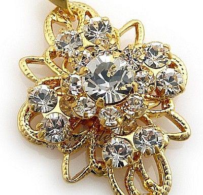 Kryształy Unikat Wisiorek Crystal Venue Gold