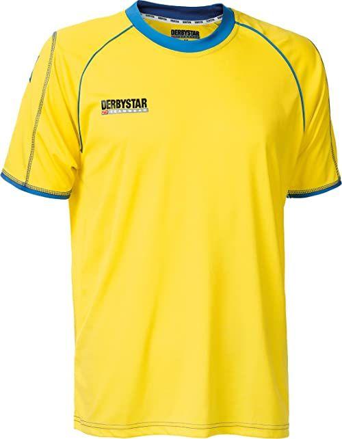 Derbystar Koszulka piłkarska Uni Energy krótka żółty żółty/niebieski 164
