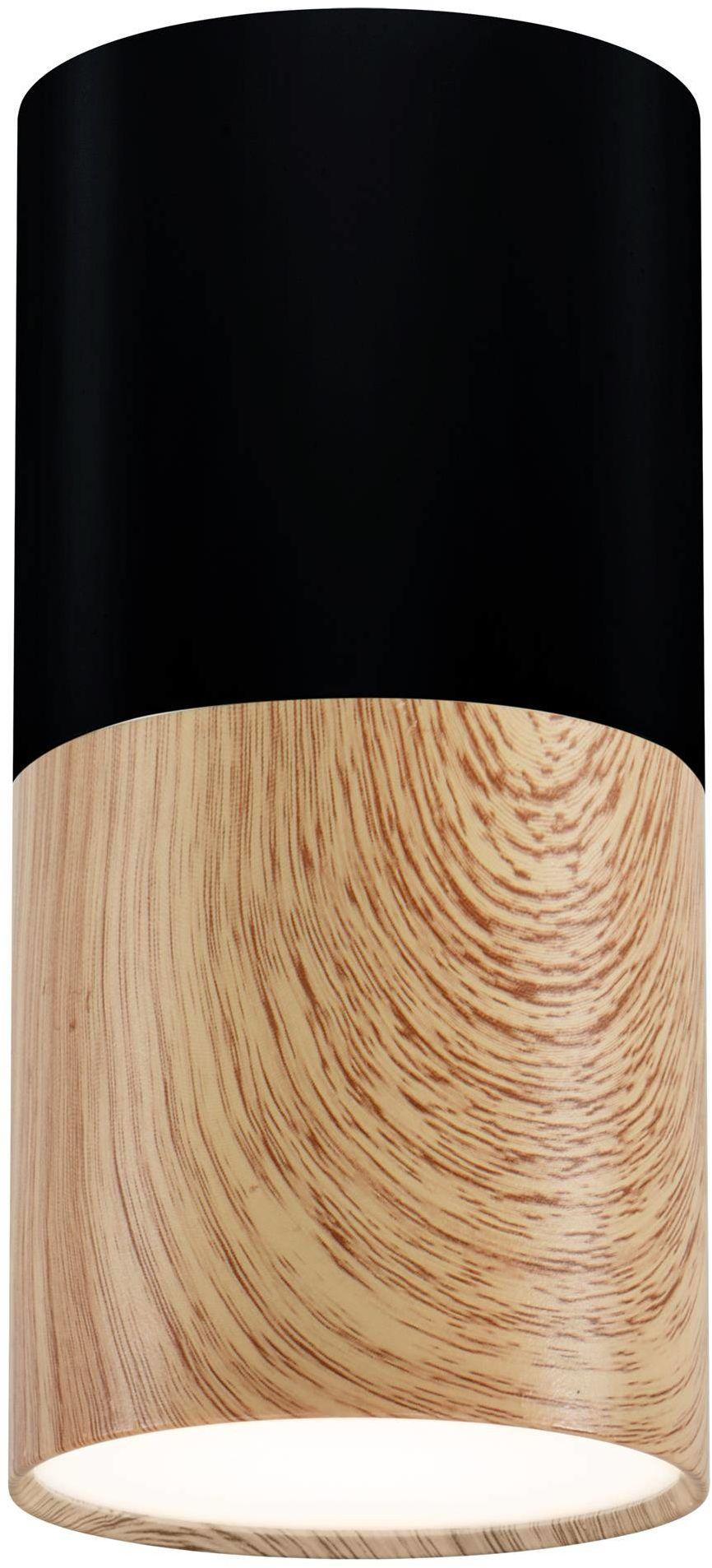 Candellux TUBA 2282862 oprawa stropowa natynkowa drewniany + czarny 1X50W GU10 13 cm