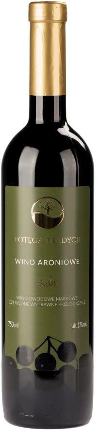 Wino aronia czerwone wytrawne bio 0,75 l - potęga tradycji