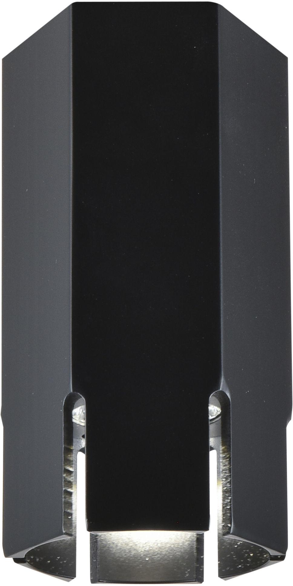Candellux TUBA 2282831 oprawa stropowa natynkowa sześciobok czarna 1X25W GU10 12 cm