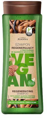 Joanna Vegan szampon regenerujący z proteinami z migdałów 300 ml