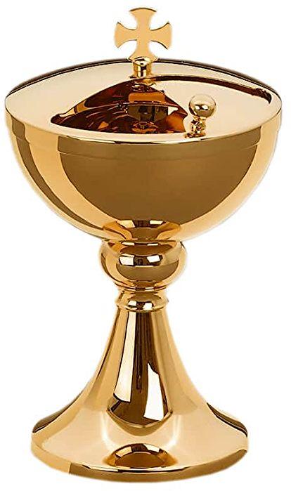 Puszka liturgiczna złocona