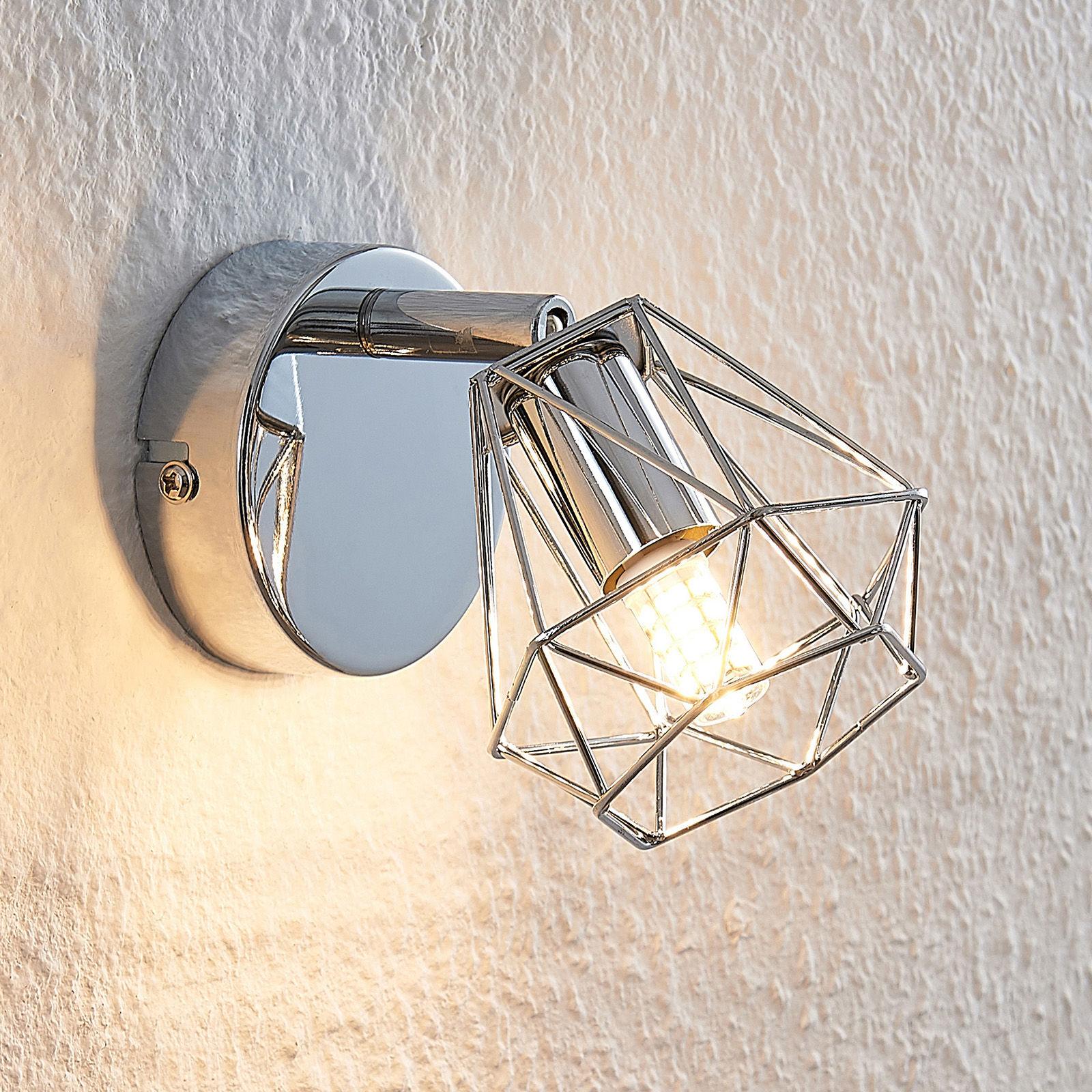 Lindby Giada reflektor ścienny LED klosz klatkowy