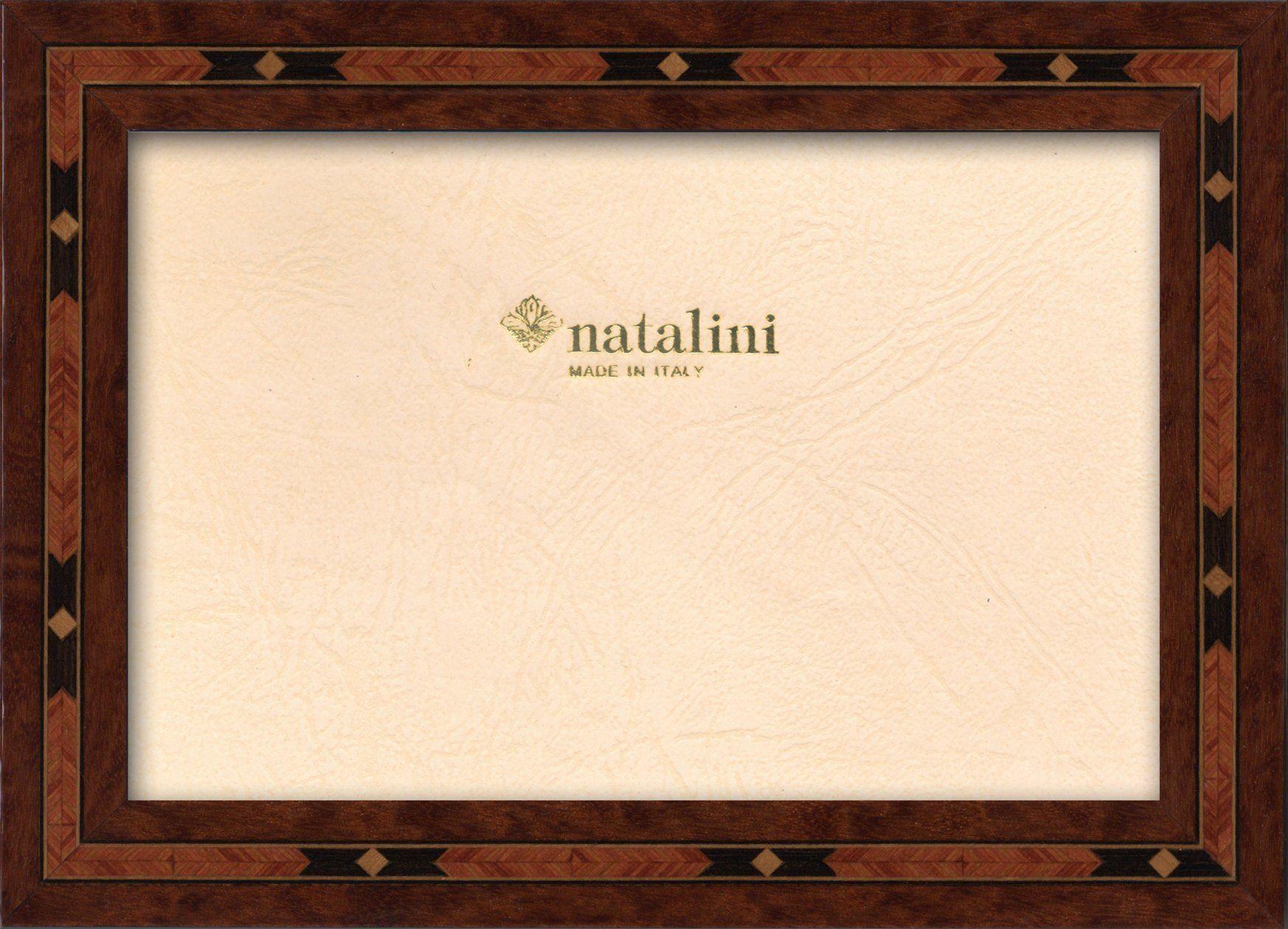 Ramka na zdjęcia Natalini MARQUETRY MADE IN ITALY, Tulipan, brązowa, 20 cm x 25 cm