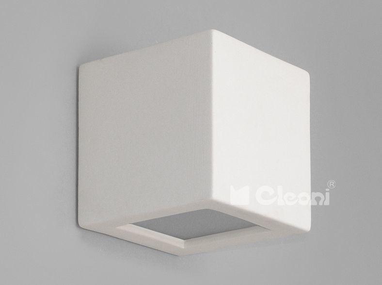 Cleoni kinkiet Kubik ścienny z dolnym szkłem1038B WM