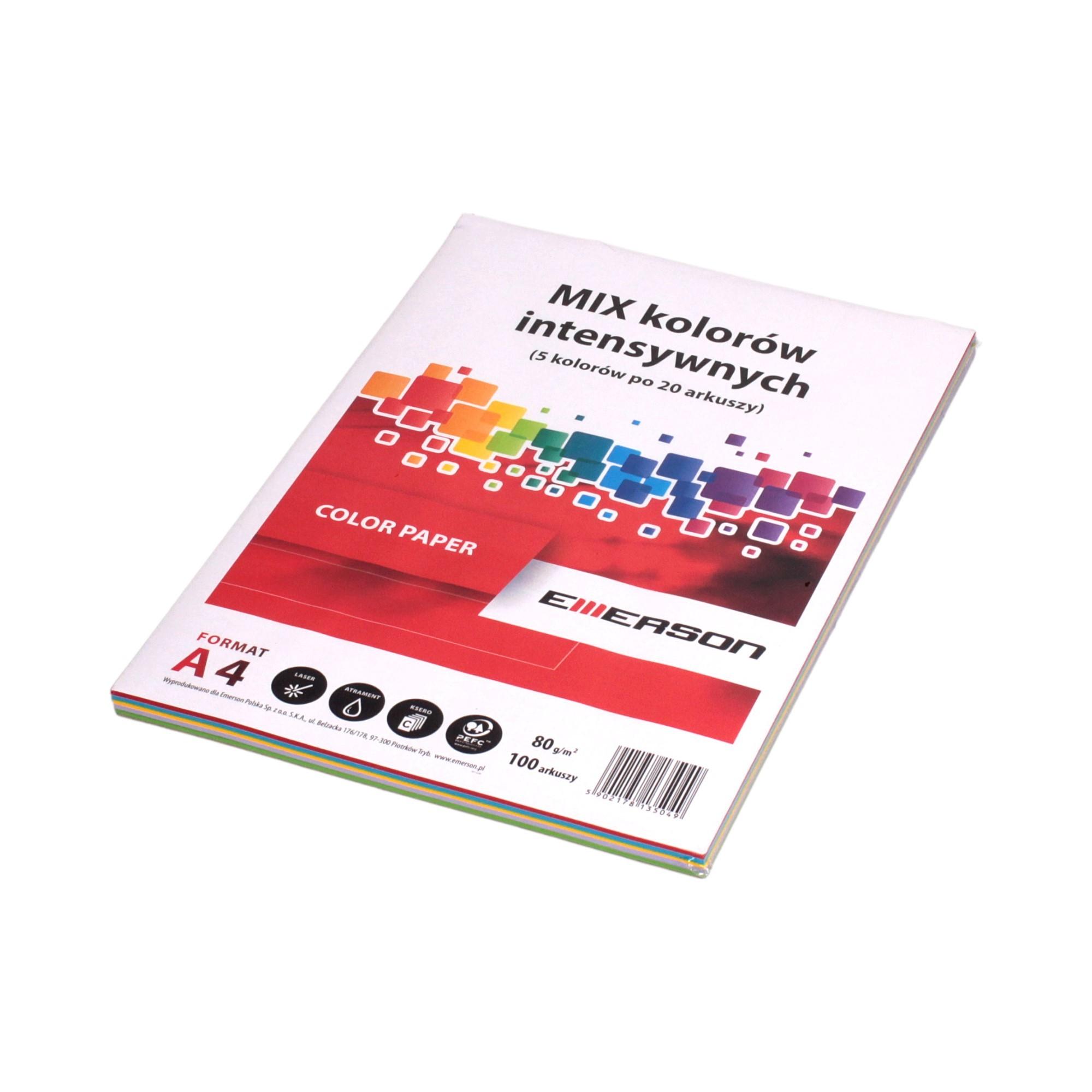 Papier ksero A4 80g mix/intensywny (100)