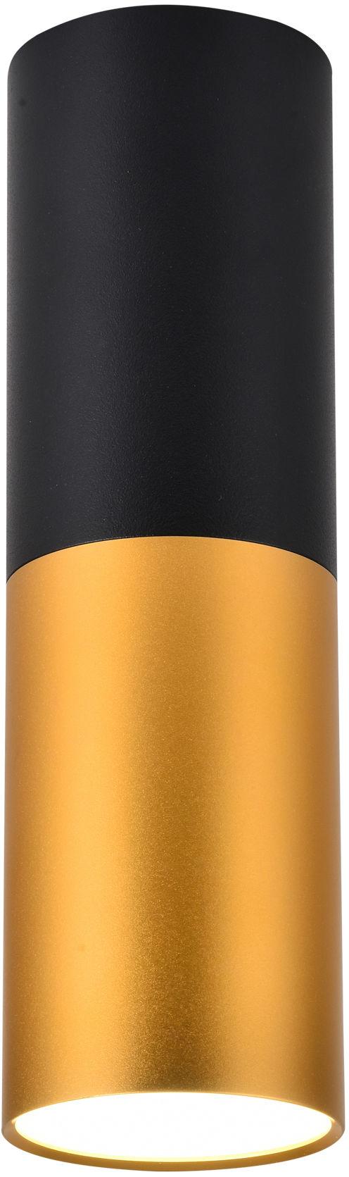 Candellux TUBA 2281728 oprawa stropowa natynkowa czarno złota 1X15W GU10 12 cm