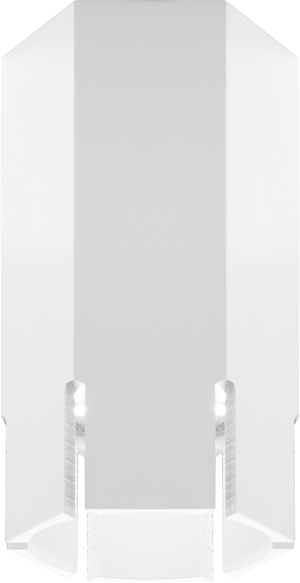 Candellux TUBA 2282824 oprawa stropowa natynkowa sześciobok krótki biała 1X25W GU10 12 cm