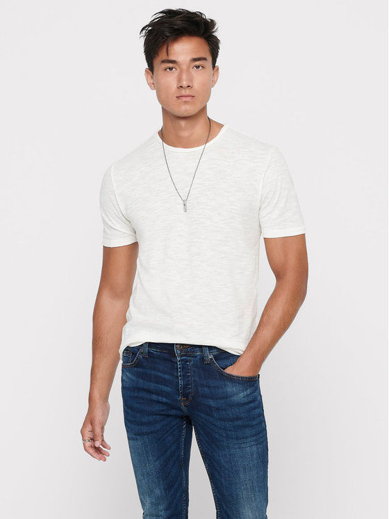 ONLY & SONS T-Shirt Albert Life 22005108 Beżowy Regular Fit
