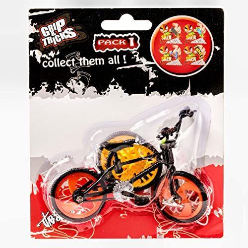 Grip & Tricks - Finger BMX - Mini BMX Freestyle Pack1 Black Model - Mini rower Freestyle