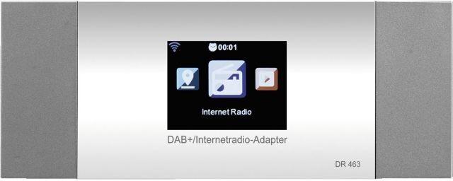 MONACOR DR-463 Tuner radia internetowego WLAN oraz FM i DAB+, z funkcją DLNA oraz Bluetooth