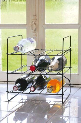 Stojak na wino na 9 butelek z metalu City Rack  Compac marki LAtelierDuVin 095508-8