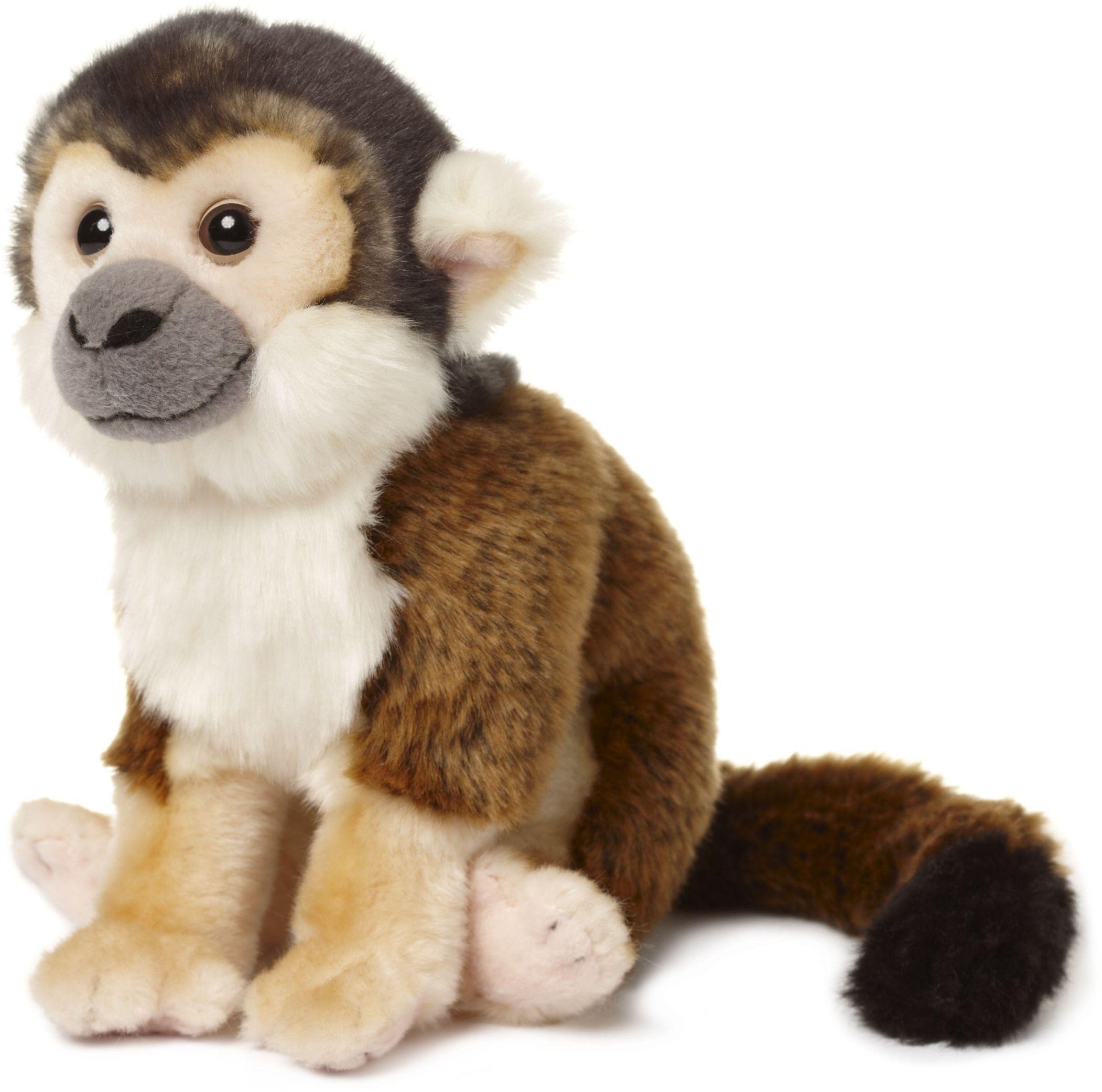 Unbekannt Pluszowa małpka z trupią czaszką WWF (20 cm), realistyczna, super miękka, jak żywo, pluszowa pluszowa zwierzątko do przytulania i kochania, możliwe pranie ręczne