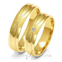 Obrączki ślubne Złoty Skorpion  wzór Au-A143
